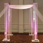 Crystal with Swag Chuppah