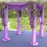 Lilac Organza Chuppah