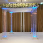 Perspex with single crystals chuppah